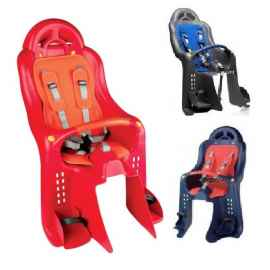 Детское велокресло на багажник с поручнем и подголовником до 22 кг