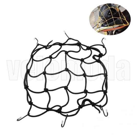 Резинка-сетка на багажник с металлическими крючками 30*30 см (Чёрная)