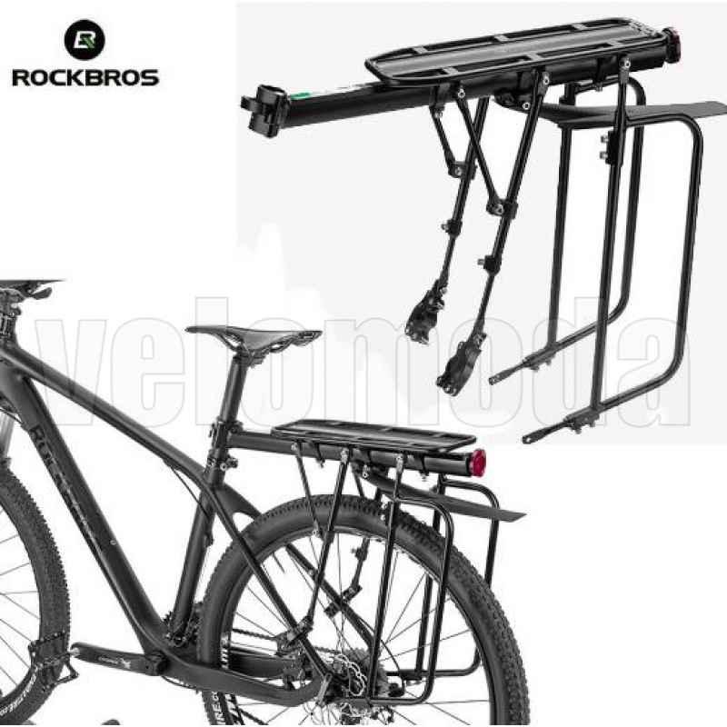 Багажник для велосипеда алюминиевый RockBros HJ2002 туристический (75кг)