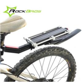 Корзина для велосипеда задняя HT-017 стальная (Черная)