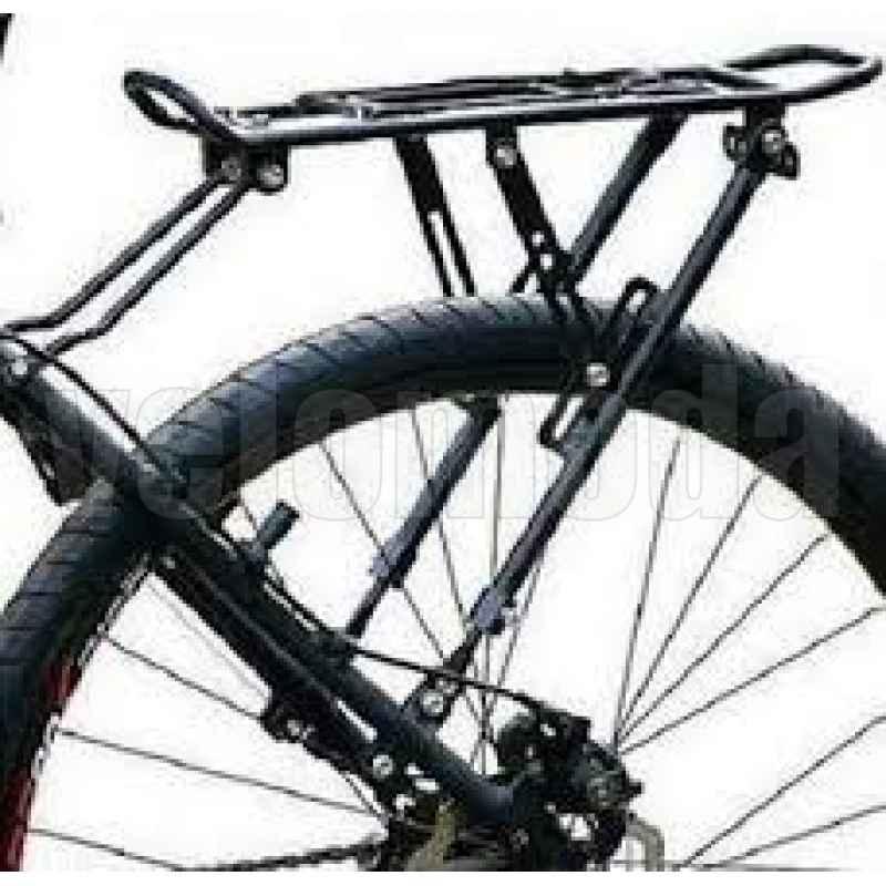"""Багажник на перо велосипеда 26""""-28"""", с прижимной лапкой (алюминиевый сплав)"""