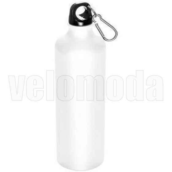 Фляга для воды алюминиевая с карабином 800мл (Белая)