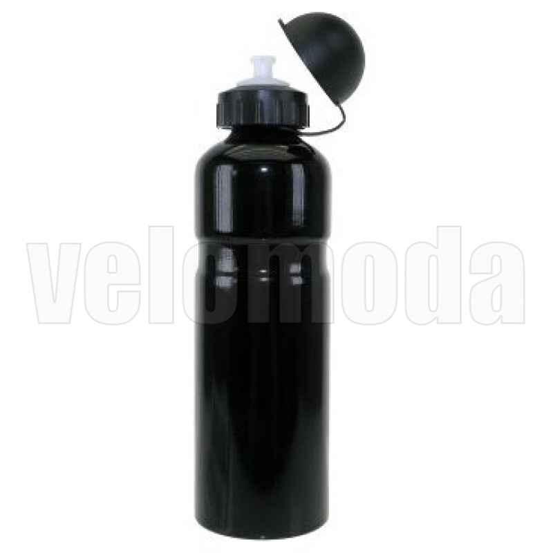 Фляга для воды на велосипед алюминиевая (Черная)