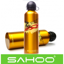 Бутылка для воды на велосипед Beto алюминиевая (Золотая)