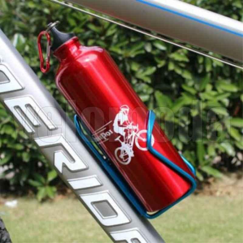Фляга для воды алюминиевая 750мл (Красный)