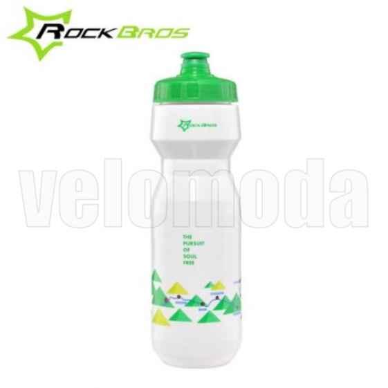 Спортивная Бутылка для воды на велосипед RockBros 750мл полипропилен (зеленая)