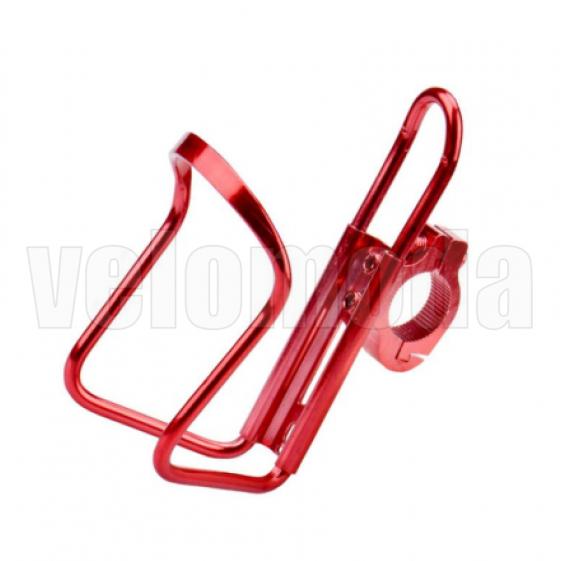 Флягодержатель алюминиевый на руль велосипеда/самоката RayPal T-10B (Красный)