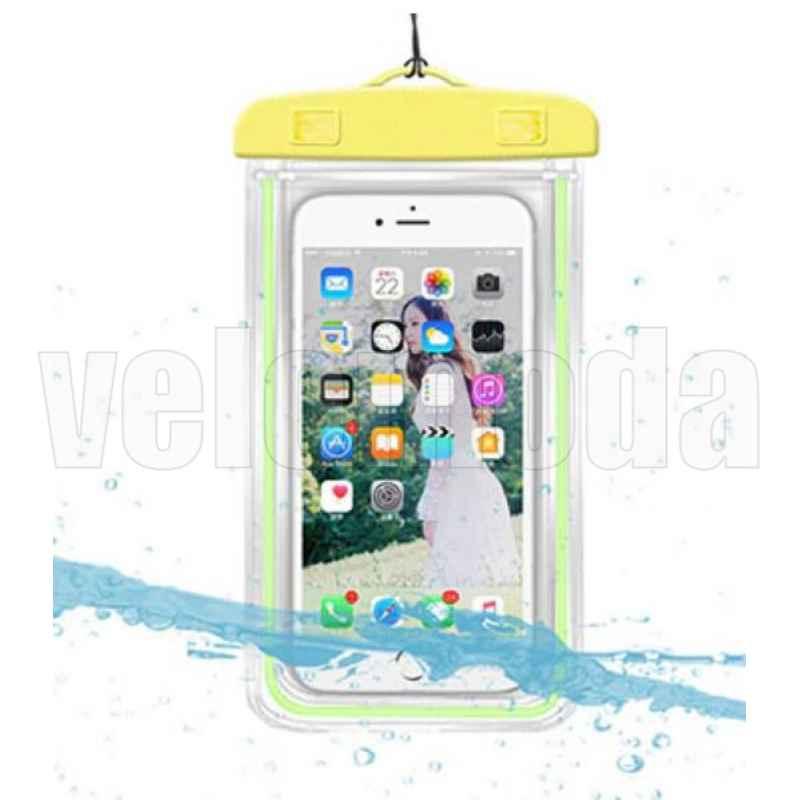 Водонепроницаемый чехол для смартфона 17.5 см x 10.5 см (желтый)