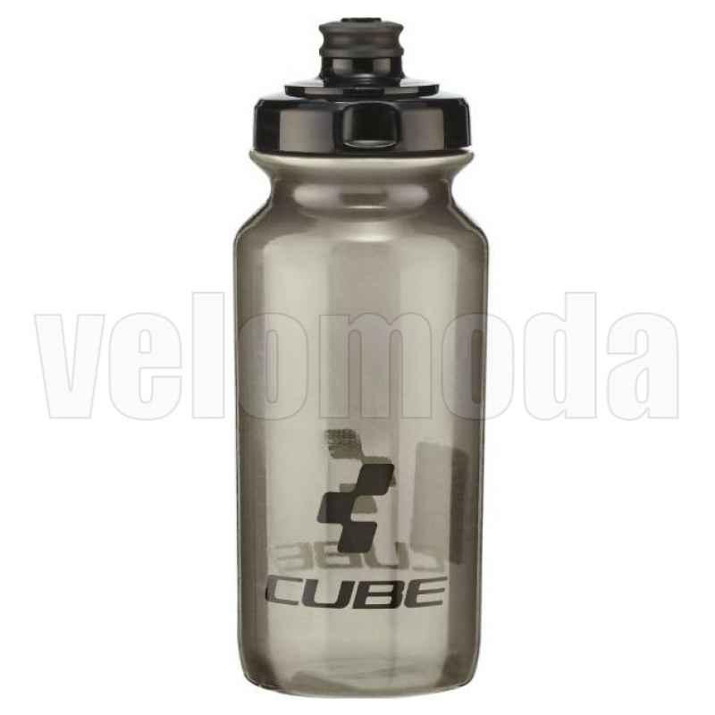 Бутылка для воды CUBE Icon 500мл PE Италия (Черный-прозрачный)