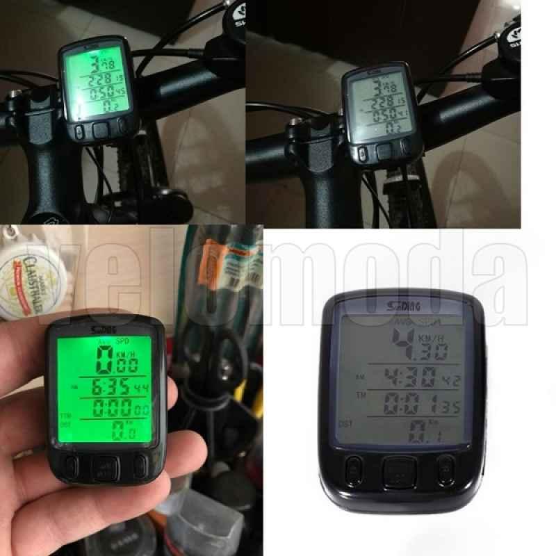 Велокомпьютер SunDing 563A проводной 27 функции + подсветка