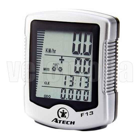 Велокомпьютер Atech F13 проводной 13 функций