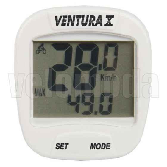 Велокомпьютер Ventura X 244553 проводной, 10 функций (Белый)