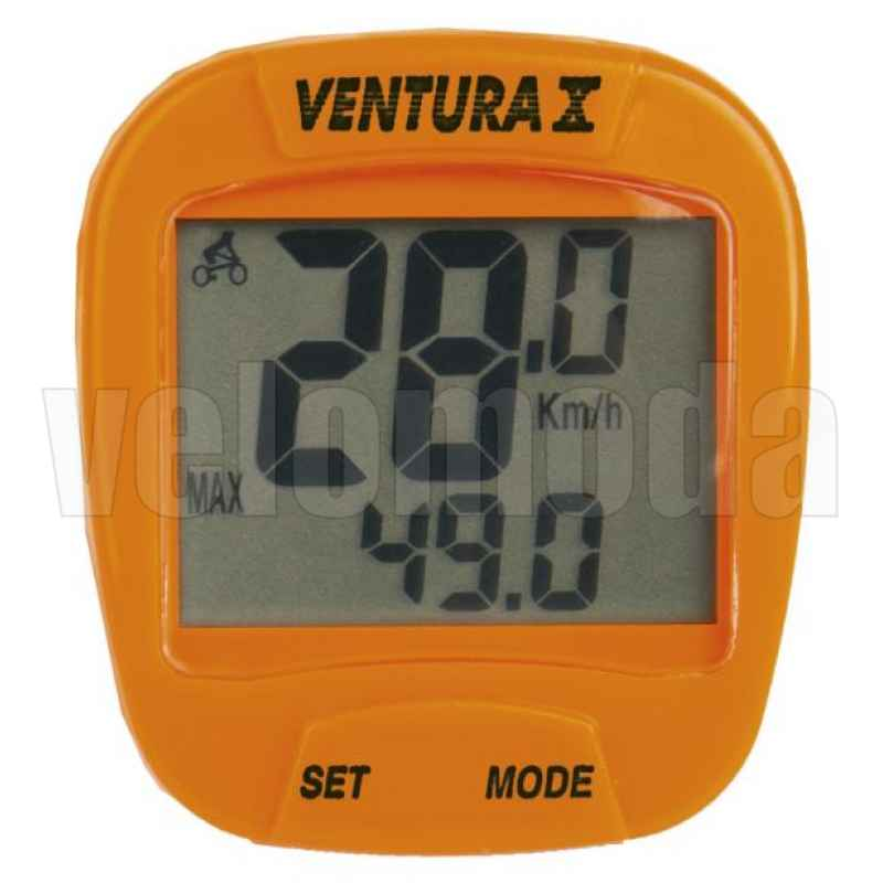 Велокомпьютер Ventura X 244553 проводной, 10 функций (Оранжевый)
