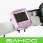 Велокомпьютер Sahoo 14 функций, проводной, водонепроницаемый (розовый)