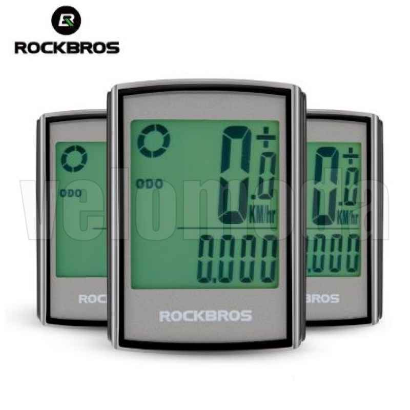 Велокомпьютер Rockbros BC18-L21 беспроводной, с подстветкой, 18 функций