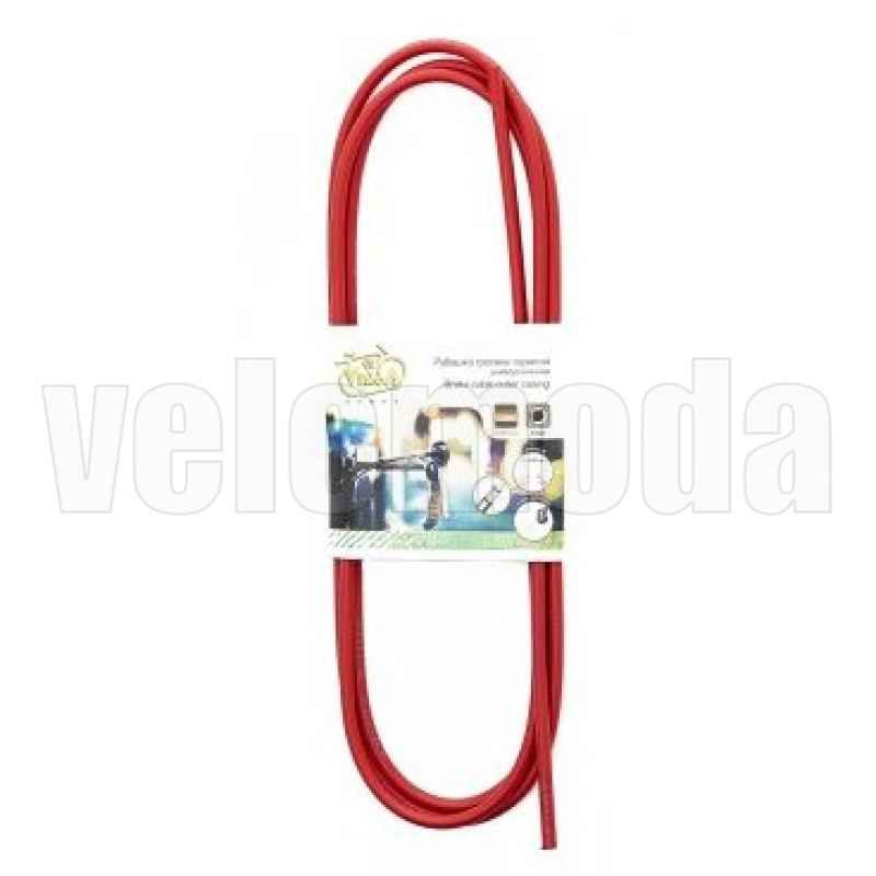 Рубашка тросика тормоза 5 мм, 2 метра (красный)