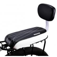 Детское кресло D2568 для велосипеда на багажник (Чёрно-белое)