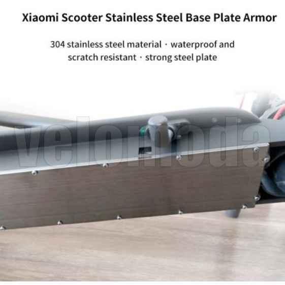 Защита, крышка батарейного отсека для электросамоката Xiaomi Mijia M365 Pro, Pro 2 нержавеющая сталь