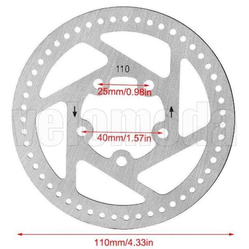 Тормозной диск 110 мм для электросамоката Xiaomi Mijia M365