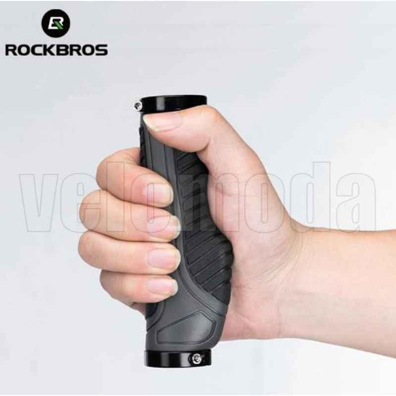 Грипсы эргономичные RockBros BT1802 пластик + резина (красные)