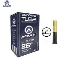 Велокамера Aсimut 26x1.75/2.125 SV40mm бутиловая резина, авто-ниппель