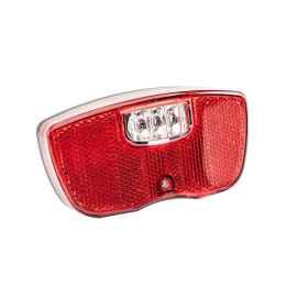 Комплект катафотов (световозвращателей) на велосипед красный + белый (50*35 мм)