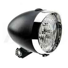 Фара велосипедная передняя 2К 3 диода, 1 функция (черная)