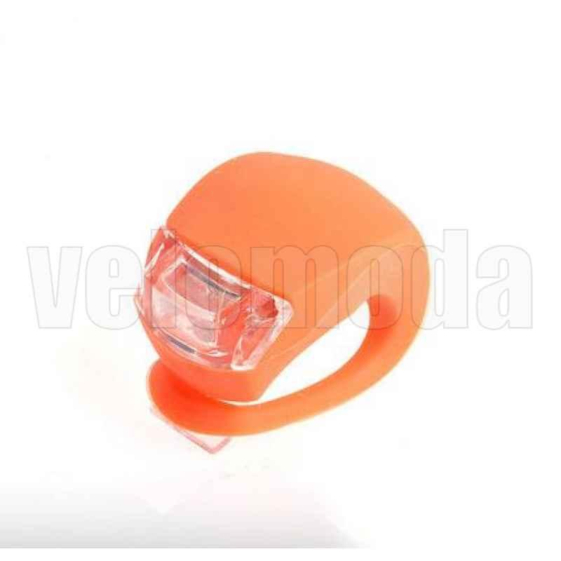 Маячок для велосипеда силиконовый 2 суперярких диода (ораньжевый)