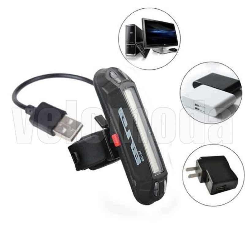 Габарит GUB M38 аккумуляторный 6 режимов, 30 LED (синий, красный, белый)