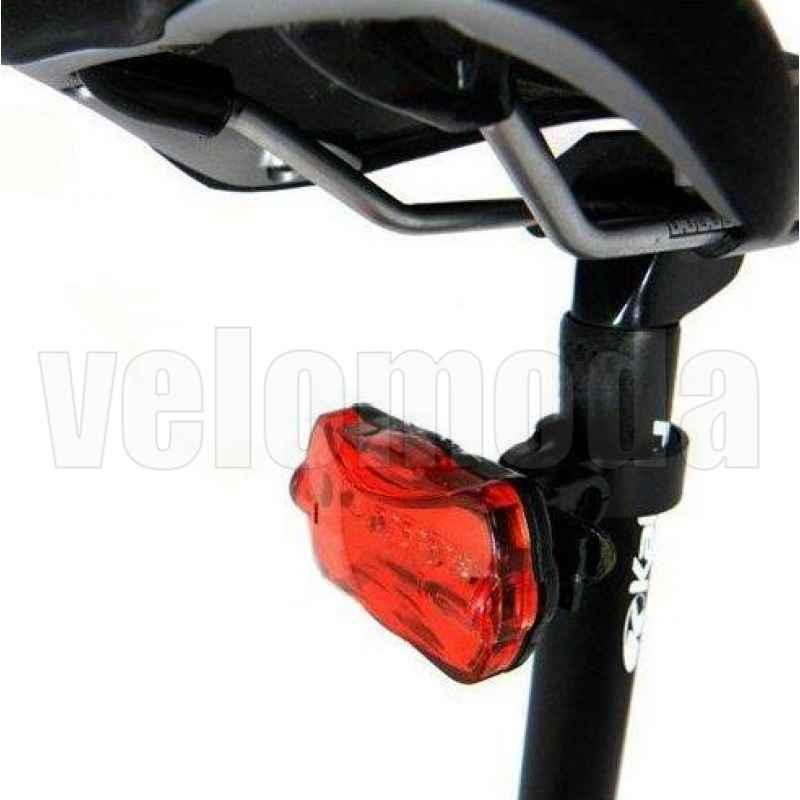 Габарит задний для велосипеда HY-198 5 диодов, 3 режима