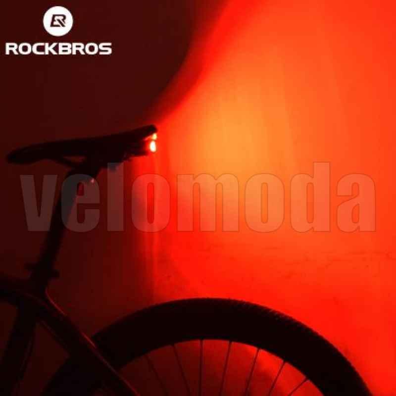 Задний габарит + сигнализация + звонок с пультом Rockbros A6