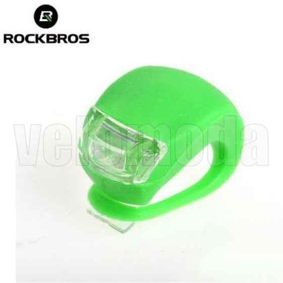 Маячок для велосипеда силиконовый 2 суперярких диода Rockbros WD1004 (зеленый)