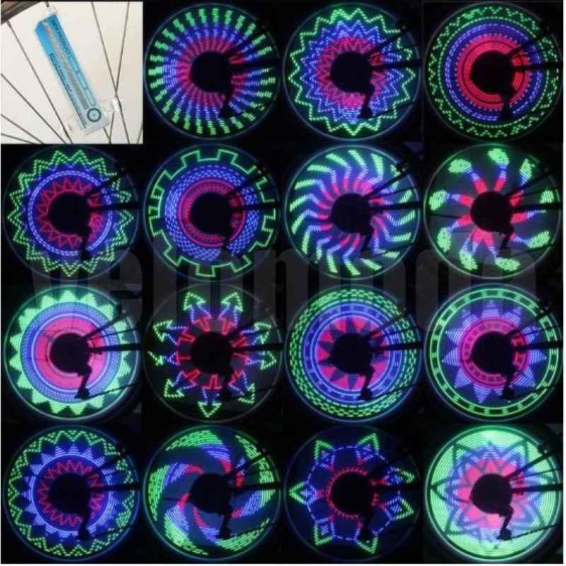 Освещение на спицы светодиодное 32 изображения JY-2002
