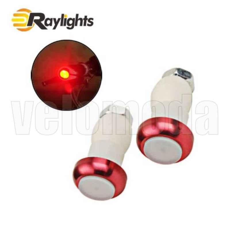 Маячки в грипсы (поворотники) HJ010 2 шт (Красный)