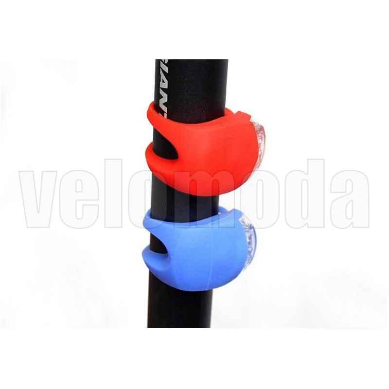 Маячок для велосипеда силиконовый 2 суперярких диода Rockbros WD1004 (черный)