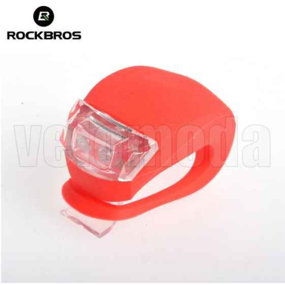 Маячок для велосипеда силиконовый 2 суперярких диода Rockbros WD1004 (красный)