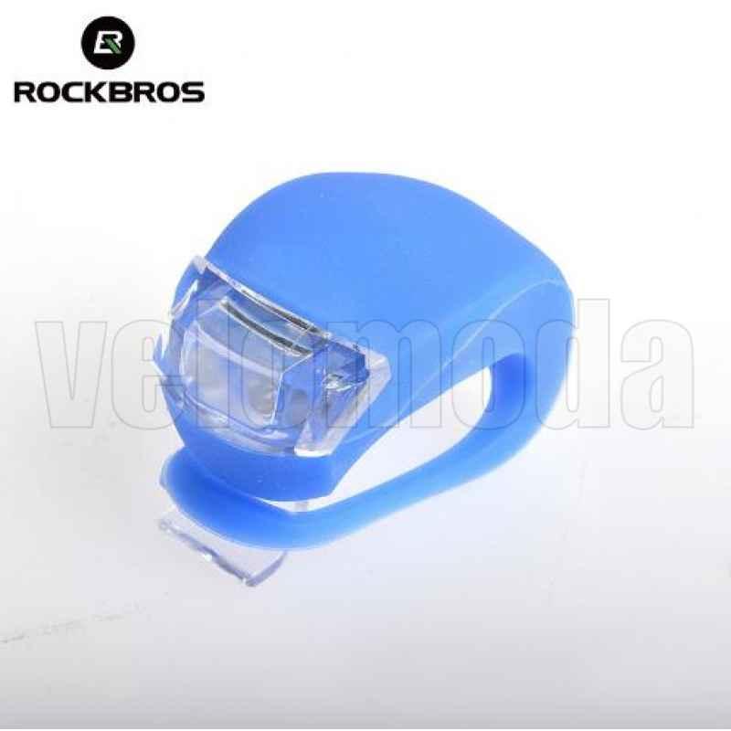 Маячок для велосипеда силиконовый 2 суперярких диода Rockbros WD1004 (синий)