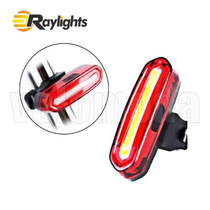 Габарит для велосипеда 096 COB 120 lm (красный-белый свет)