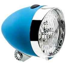 Фара велосипедная передняя 2К 3 диода, 1 функция (синий)