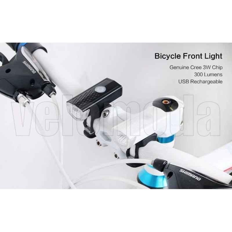 Фонарь велосипедный Raypal 2255 300Lm, 800 mAh, IP65
