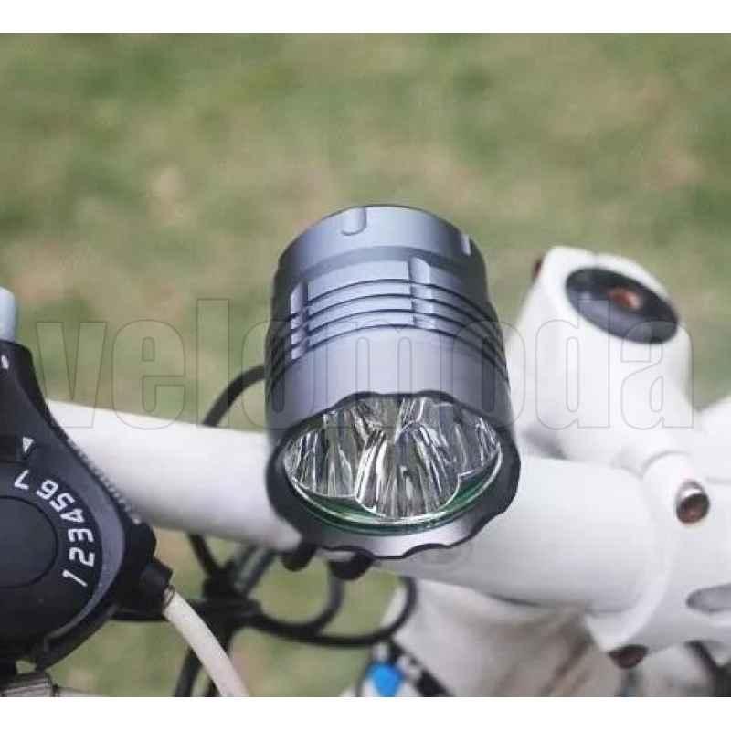 Фонарь велосипедный B4 4800 lm 4400 mAh (Серый)