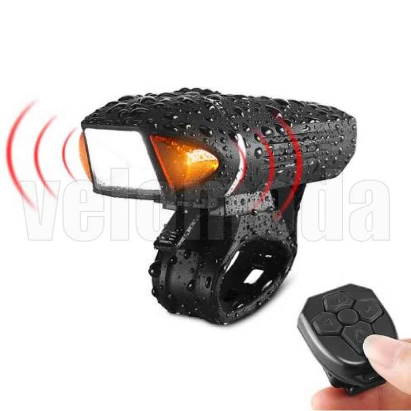 Фара передняя велосипедная Rockbros EOS450 поворотники+звонок+сигнализация