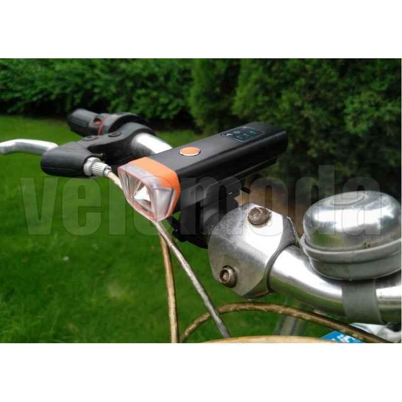 Фонарь велосипедный HJ047 с датчиком света 350lm, 2000mAh, IPX4
