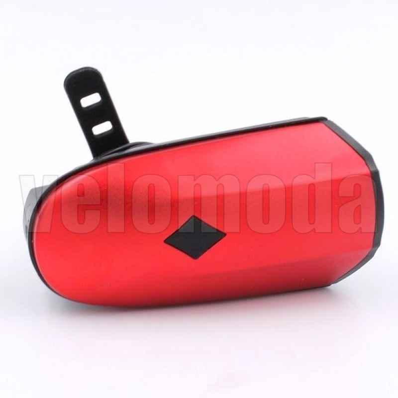 Фонарь велосипедный HJ046 250LM, 1200 MAH, звонок 120DB (красный)