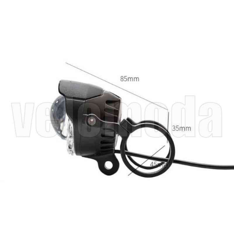 Фонарь велосипедный LD28 750Lm, USB, IP65