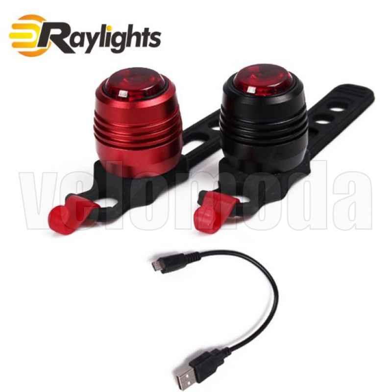 Задний фонарь для велосипеда RH002-USB (черный корпус, красный свет)