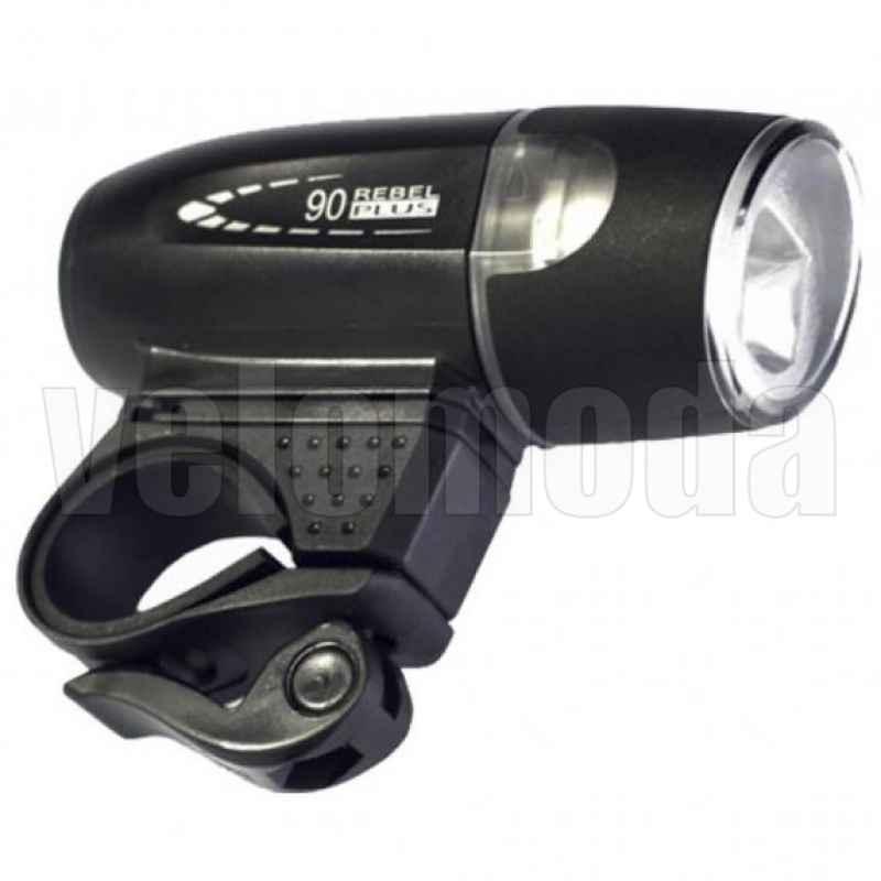 Фара велосипедная Moon SHL-06L 90 Lm, 4*AAA (Черный)
