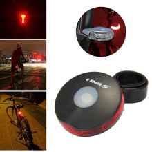 Велофонарь задний 3 led, 4 режима Super D