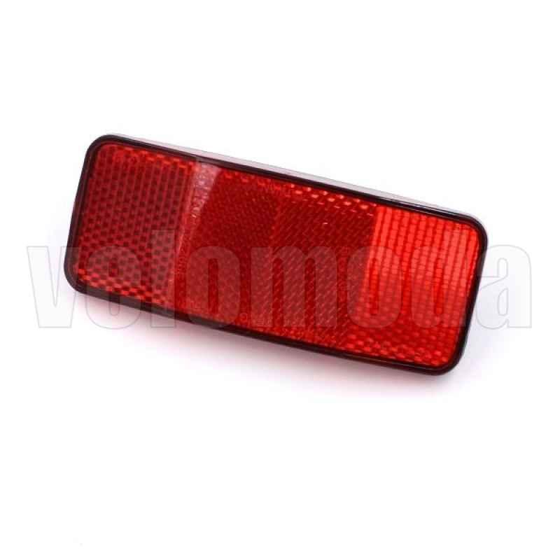 Катафот (световозвращатель) TF-508 на багажник велосипеда красный (100*35 мм)