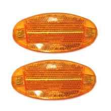 Катафот (световозвращатель) на спицы велосипеда оранжевый 2шт (90*40 мм)